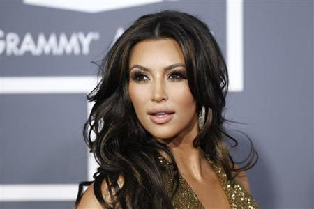 Television personality Kim Kardashian arrives at the 53rd annual Grammy Awards in Los Angeles, California February 13, 2011. REUTERS/Danny Moloshok