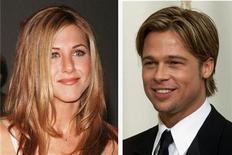 <p>Brad Pitt and Jennifer Aniston are shown in undated file photos. REUTERS/Fred Prouser/File Photo</p>
