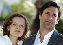 """<p>Cast members Elisabeth Moss (L) and Jon Hamm pose during a photocall to promote their television series """"Mad Men"""" at the annual MIPCOM television programme market in Cannes, southeastern France, October 5, 2010. REUTERS/Eric Gaillard</p>"""