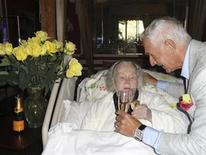 <p>Actress Zsa Zsa Gabor and her husband Frederic Prinz von Anhalt celebrate his 68th birthday in this June 18, 2011 publicity photo released to Reuters on June 20, 2011. REUTERS/John Blanchette/Handout</p>