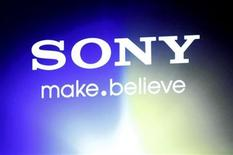 """<p>A Sony logo is seen at an unveiling of the company's head mounted display """"Personnal 3D Viewer HMZ-T1"""", in Tokyo August 31, 2011. REUTERS/Issei Kato</p>"""