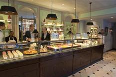 <p>Macarons are seen on sale at the Laduree shop in New York, August 30, 2011. REUTERS/Juliette Longuet/Handout</p>