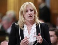 <p>Canada's Labour Minister Lisa Raitt speaks during Question Period in the House of Commons on Parliament Hill in Ottawa September 19, 2011. REUTERS/Chris Wattie</p>