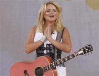 <p>Singer Miranda Lambert performs on ABC's 'Good Morning America' in New York, July 8, 2011. REUTERS/Jamie Fine</p>