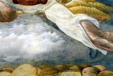 <p>A detail of a fresco by Giotto in the Basilica of St Francis in Assisi is seen in this picture released on November 5, 2011. REUTERS/Basilica of St Francis in Assisi/Handout</p>