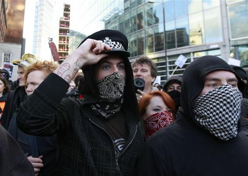 Student fury in London