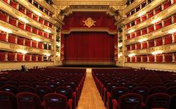 """<p>A general view is seen of La Scala opera house in Milan December 7, 2011. Mozart's """"Don Giovanni"""", conducted by director Daniel Barenboim , will open for the 2011 opera season at the La Scala opera house. REUTERS/Alessandro Garofalo</p>"""