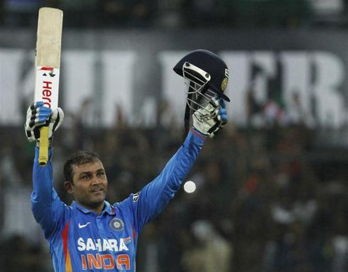 Sehwag smashes record at Indore