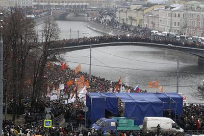 Mass protests against Putin