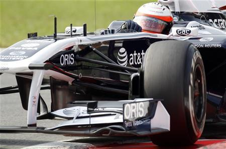 Williams Formula One drivers Rubens Barrichello of Brazil takes a curve during the third free practice session of the Italian F1 Grand Prix at Monza circuit September 10, 2011. REUTERS/Giampiero Sposito