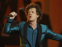 """<p>Mick Jagger performs """"Everybody Needs Someone to Love""""at the 53rd annual Grammy Awards in Los Angeles, California February 13, 2011. REUTERS/Lucy Nicholson</p>"""