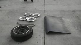 """<p>Portions of film star John Travolta's vintage Mercedes-Benz, which was stolen from a Los Angeles suburb, are pictured after the vehicle has been recovered in pieces in this photograph taken in Janaury 2012, released by the Santa Monica Police Department. Travolta's convertible 1970 Mercedes-Benz 280-SL vanished from the street in Santa Monica while the """"Pulp Fiction"""" star was visiting a nearby Jaguar dealership in September. REUTERS/Courtesy Santa Monica Police Department/Handout</p>"""