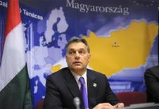 <p>Hungary's Prime Minister Viktor Orban attends a news conference at the European Council in Brussels after the European Union leaders summit January 30, 2012. REUTERS/Philippe Wojazer</p>
