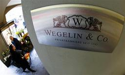 <p>A logo of the Swiss bank Wegelin is pictured at a building in Bern, in this January 27, 2012 file photo. REUTERS/Michael Buholzer/Files</p>
