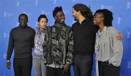 "<p>Actor Djolof M'bengue, actress Anisia Uzeyman, actor Saul Williams, director Alain Gomis and actress Aissa Maiga (L-R) attend a photocall to promote the movie ""Aujourd'hui - Tey"" at the 62nd Berlinale International Film Festival in Berlin February 10, 2012. REUTERS/Morris Mac Matzen</p>"