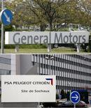 <p>PSA Peugeot Citroën et General Motors ont annoncé la création d'une alliance stratégique prévoyant des coopérations industrielles et une augmentation de capital d'un milliard d'euros du groupe français à l'issue de laquelle GM en deviendra deuxième actionnaire, à hauteur de 7%. /Photos d'archives/REUTERS</p>
