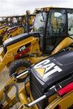 <p>Caterpillar Inc a publié mercredi un bénéfice en hausse de 29% au premier trimestre, dépassant les prévisions des analystes grâce à une demande de remplacement continue en Amérique du Nord et à la croissance de son activité minière. /Photo d'archives/REUTERS/Richard Carson</p>