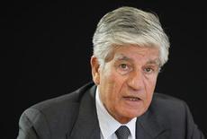 <p>Maurice Lévy, président du directoire de Publicis. Le troisième groupe publicitaire mondial va s'emparer de BBR Group, un réseau d'agences publicitaires basé en Israël. /Photo prise le 12 juin 2012/REUTERS/Mal Langsdon</p>