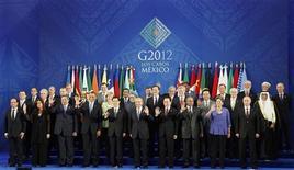 <p>L'hypothèque électorale grecque à peine levée, les dirigeants européens ont été vivement priés lundi d'agir avec ambition contre la crise dans la zone euro, aussi bien sur le plan économique qu'institutionnel, lors d'un sommet du G20 au Mexique placé sous le signe de la croissance. /Photo prise le 18 juin 2012/REUTERS/Edgard Garrido</p>