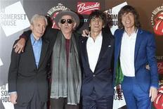 <p>Foto de archivo de los integrantes del grupo The Rolling Stones durante la apertura de una muestra en su honor en Londres, jul 12 2012. Los Rolling Stones están preparando una serie de cuatro conciertos en noviembre en Londres y Nueva York, reportó el jueves la revista Billboard. REUTERS/Ki Price</p>