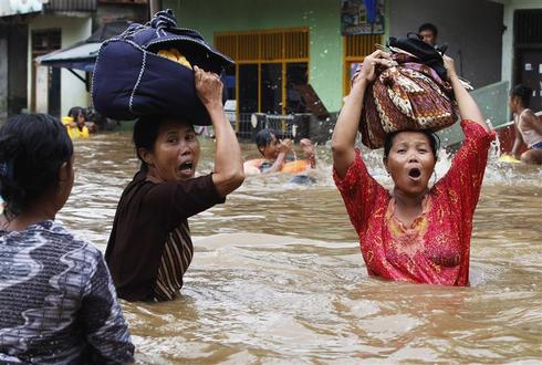 Jakarta under water