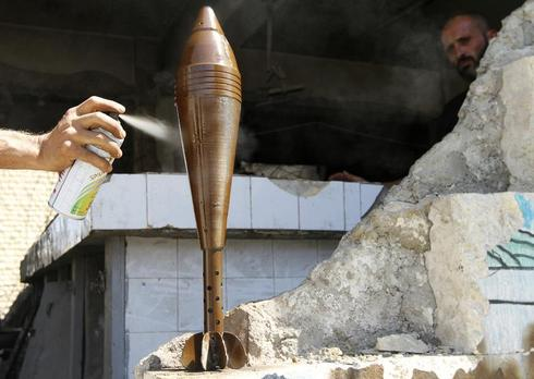 Aleppo's painted mortars