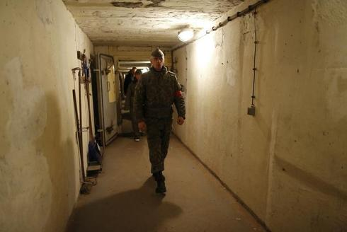 Inside an East German bunker