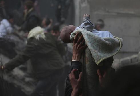 Airstrike in Damascus