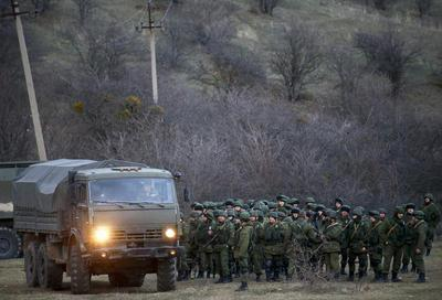 Russian forces in Crimea