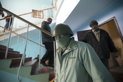 Ukraine Navy HQ stormed