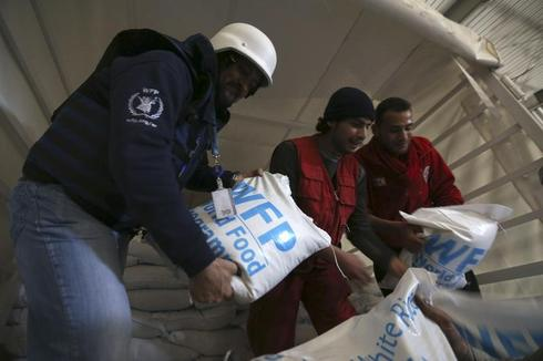 Delivering aid to Damascus