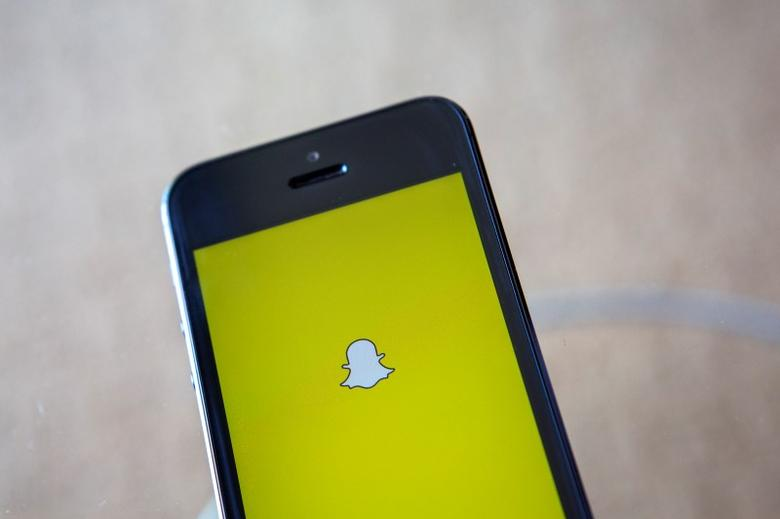 A portrait of the Snapchat logo in Ventura, California December 21, 2013. REUTERS/Eric Thayer/Files