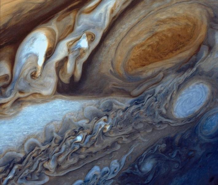Jupiter's Great Red Spot is pictured in this handout photograph taken by NASA's Voyager 1 in 1979.  REUTERS/NASA/JPL/Handout via Reuters