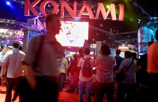5月28日、コナミがカジノ合法化をにらみ、カジノ運営会社に出資するための子会社を設立すると発表した。ロサンゼルスで昨年5月撮影(2014年 ロイター)