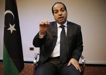 Libya's new Prime Minister Ahmed Maiteeq talks during an interview with Reuters in Tripoli May 26, 2014. REUTERS/Ahmed Jadallah