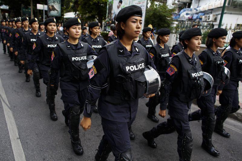 タイ軍事政権、軍隊・警察5700人動員しデモ隊解散