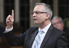 Canada's International Trade Minister Ed Fast speaks during Question Period in the House of Commons on Parliament Hill in Ottawa May 28, 2014. REUTERS/Chris Wattie