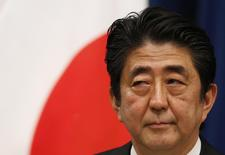 Japan's Prime Minister Shinzo Abe attends a news conference at his official residence in Tokyo May 15, 2014. REUTERS/Toru Hanai