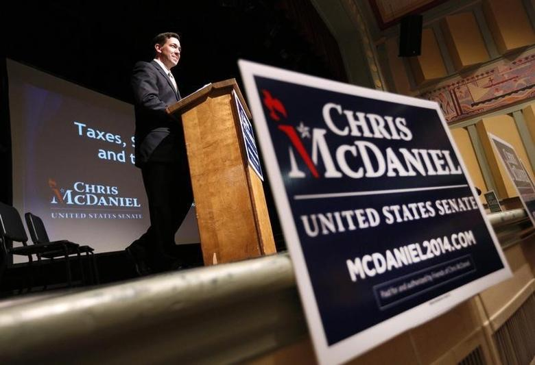 Mississippi Senator Chris McDaniel speaks during a town hall meeting in Ocean Springs, Mississippi March 18, 2014. REUTERS/Jonathan Bachman