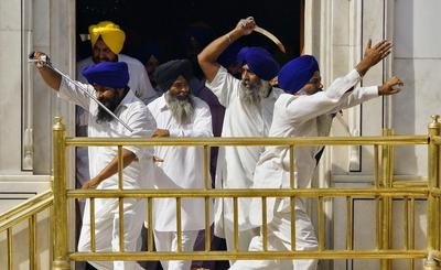 Clashes at Golden Temple