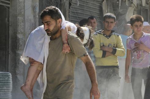 Barrel bombs in Aleppo