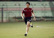 Árbitro japonês Yuichi Nishimura, que vai apitar jogo Brasil e Croácia, durante treinamento para a Copa no Rio de Janeiro. 6/6/2014.    REUTERS/Sergio Moraes