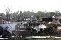 Debris is pictured in the town of Pilger, Nebraska June 17, 2014.  REUTERS/Lane Hickenbottom