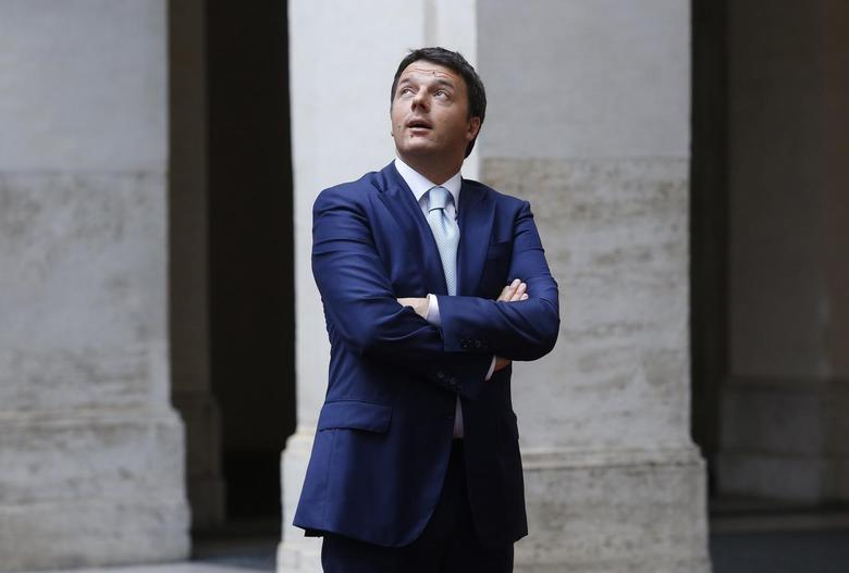 Italy's Prime Minister Matteo Renzi looks on as he arrives to meet European Council President Herman Van Rompuy in Rome June 18, 2014.REUTERS/Remo Casilli