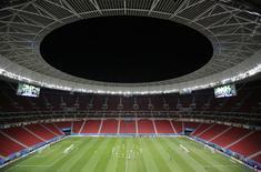 Jogadores da seleção brasileira treinam no Estádio Nacional Mané Garrincha. 22/06/2014    REUTERS/Ueslei Marcelino