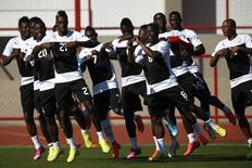 Seleção de Gana durante treinamento em Brasília. 25/6/2014 REUTERS/Ueslei Marcelino
