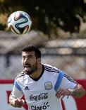 Argentino Lavezzi durante treino da seleção argentina. 21/06/2014  REUTERS/Sergio Perez