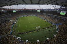 A general view shows Maracana stadium during the 2014 World Cup in Rio de Janeiro June 28, 2014.  REUTERS/Felipe Dana/Pool