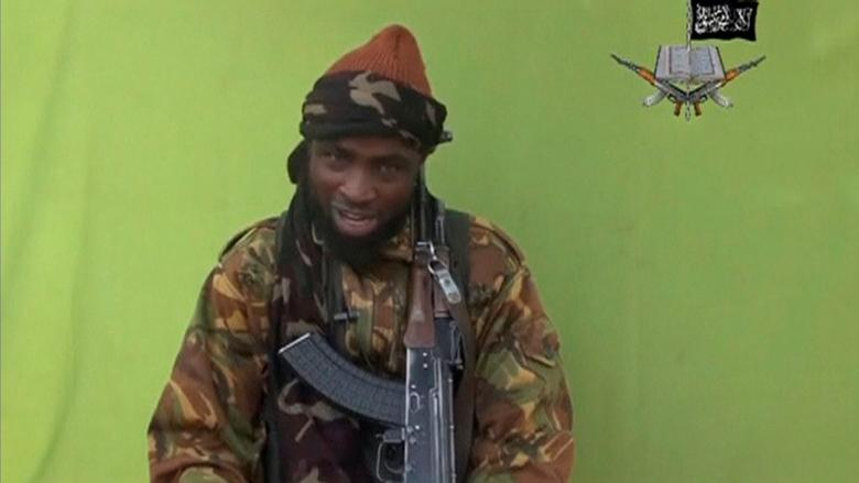 Boko Haram leader Abubakar Shekau speaks at an unknown location in this still image taken from an undated video released by Nigerian Islamist rebel group Boko Haram. REUTERS/Boko Haram handout via Reuters TV