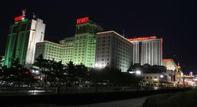 A view from the boardwalk of several casinos in Atlantic City, New Jersey, in this file photo from March 14, 2009. REUTERS/Tim Shaffer/Files